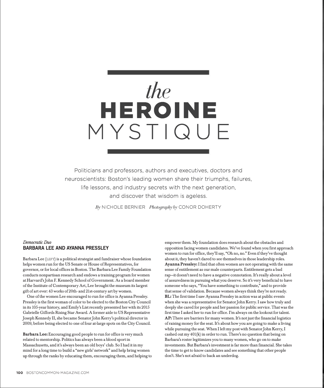 The Heroine Mystique